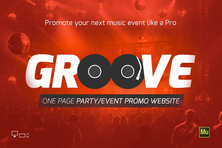 Thumbnail for Plantilla de sitio para eventos y fiestas de Groove Music