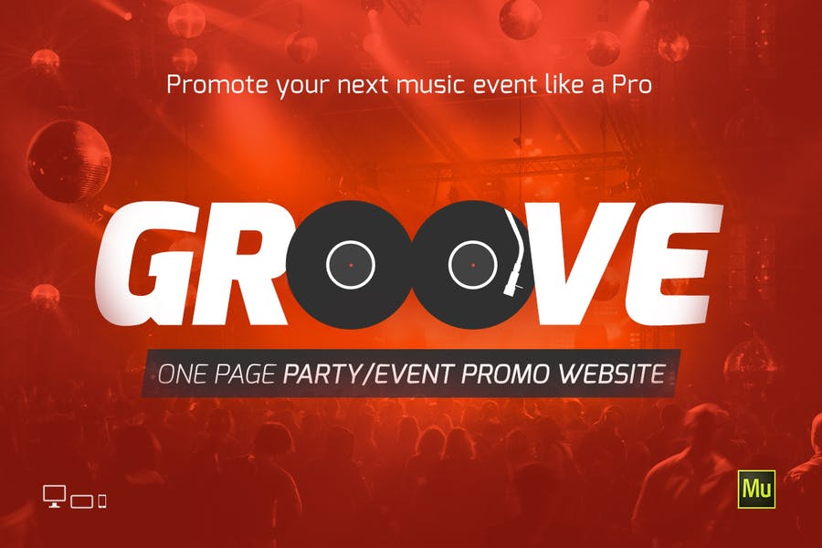 Groove Music Event / Party Site Template