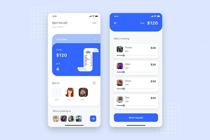 Thumbnail for Split Bill Mobile UI Template
