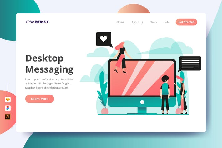 Thumbnail for Desktop Messaging - Landing Page