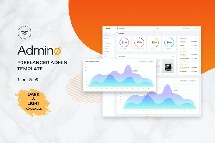 Thumbnail for Freelancer Admin Dashboard UI Kit
