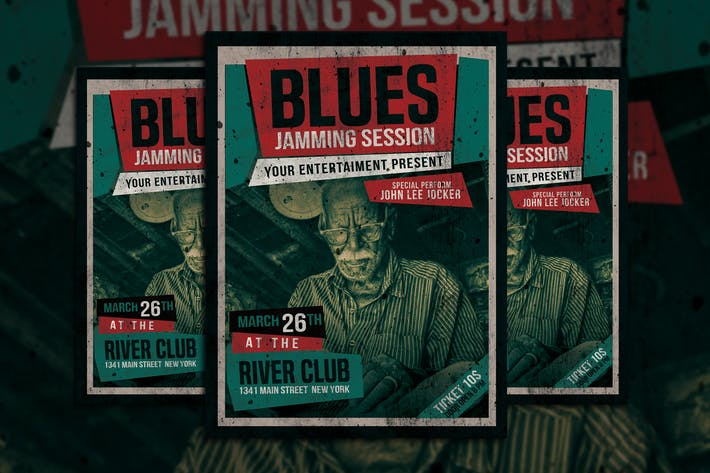 Thumbnail for Blues Music Flyer