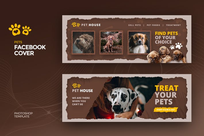 Thumbnail for Pet House Facebook Cover Template