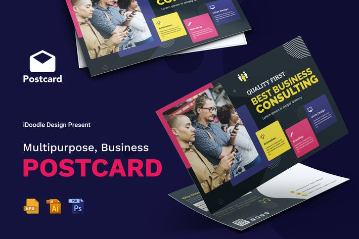 Thumbnail for Multipurpose, Business, Corporate Postcard