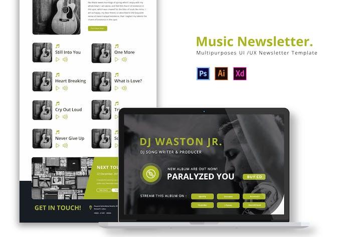 Thumbnail for Music Newsletter