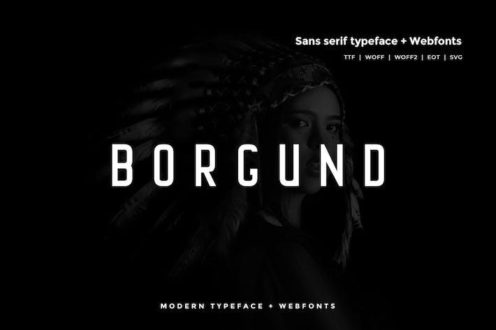 Thumbnail for Borgund - Modern Typeface + WebFont