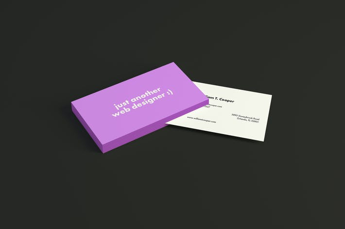 Thumbnail for 4 Business Card Mockups