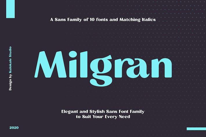 Thumbnail for Milgran Sans Font Family