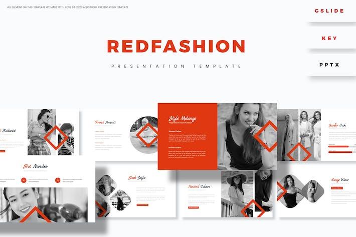 Красная мода - Шаблон презентации
