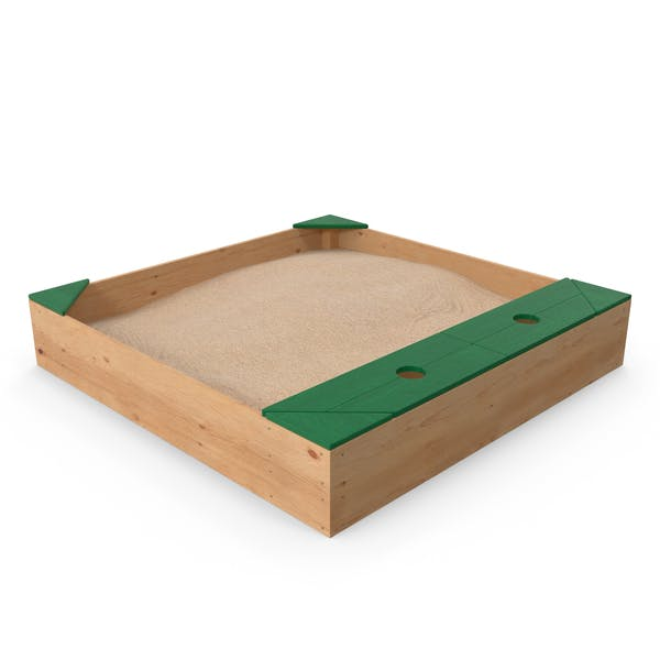 Thumbnail for Wood Sandpit with Storage Box