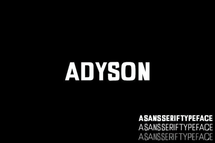 Thumbnail for Adyson A Sans Serif Font Family