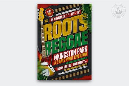 Reggae Music Flyer Template V2