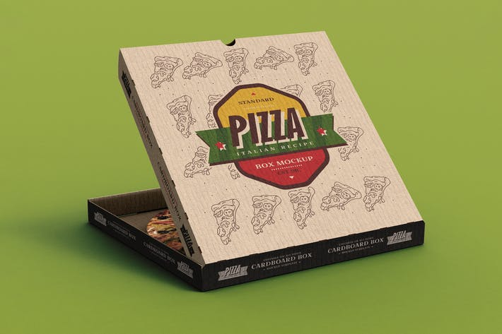 Thumbnail for Pizza Box Mock-Up Template