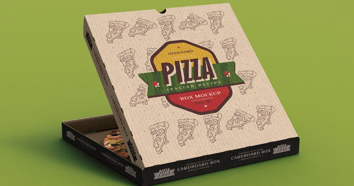 Download Pizza Box Mock-Up Template by EightonesixStudios