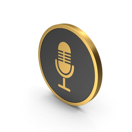 Gold Icon Microphone