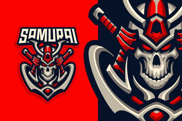 Thumbnail for Samurai Esport and Sport Logo Template