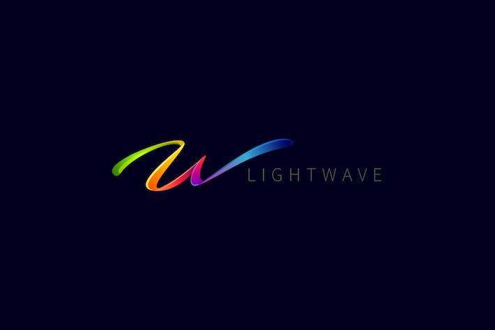 Thumbnail for Light Wave - Modern Fancy Letter W or M Logo