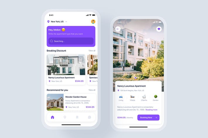 Thumbnail for Real Estate mobile app concept