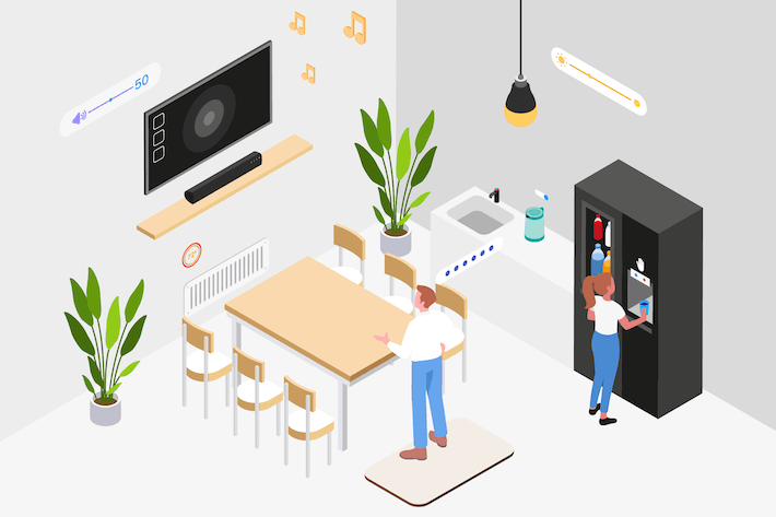 Thumbnail for Smart Workplace Isometric Illustration