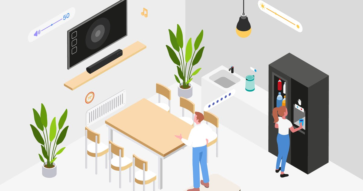 Download Smart Workplace Isometric Illustration by angelbi88