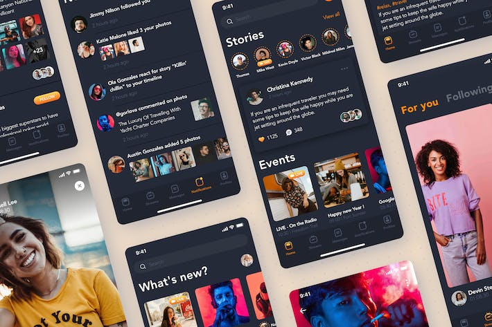 Thumbnail for Stream Video App - Social Mobile UI Concept