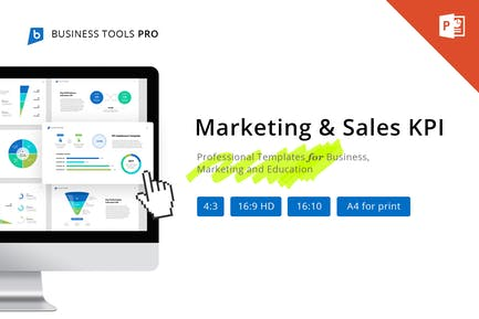 Marketing and Sales KPI for PowerPoint