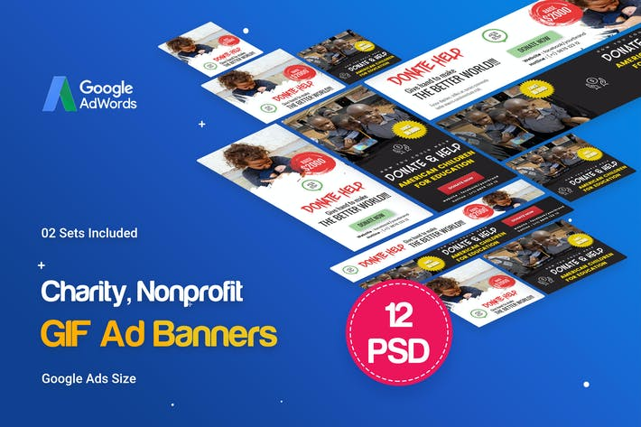 Thumbnail for NGO, Charity/Fundraising GIF Banner Ad