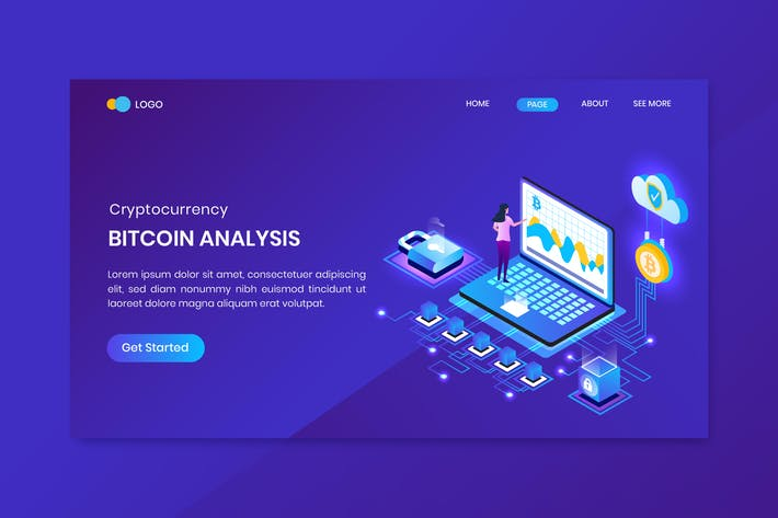 Thumbnail for Bitcoin Analysis Landing Page Template