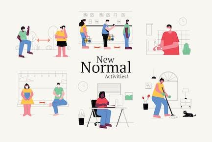 Neue Normale Grafiken Illustration