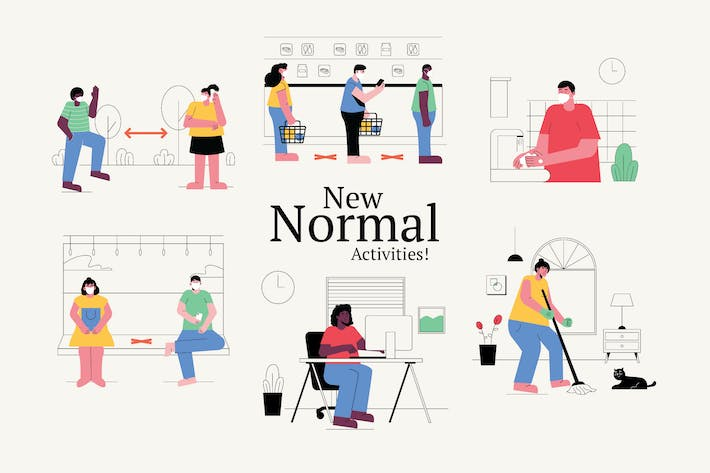 Thumbnail for New Normal Graphics Illustration