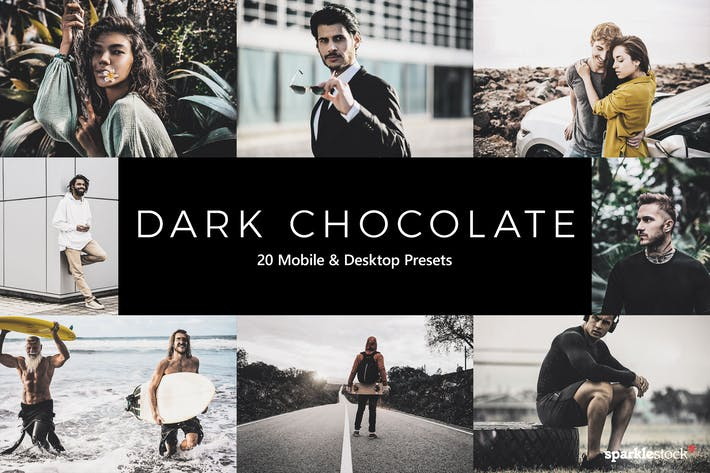 Thumbnail for 20 Dark Chocolate Lightroom Presets & LUTs