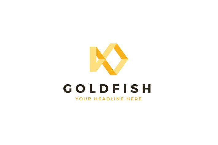 Thumbnail for Gold Fish Logo Template