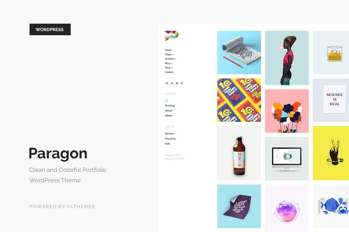 Thumbnail for Paragon - Colorful Portfolio WordPress Theme