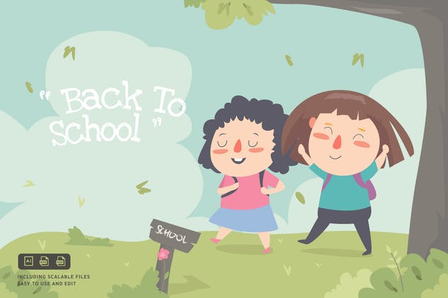 Back To School - Ilustration Template - product preview 0