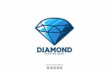 Blue Diamond Logo Template
