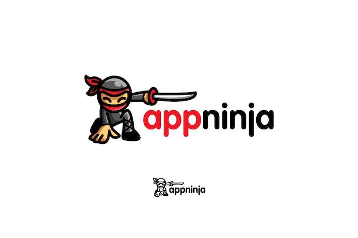 Thumbnail for App Ninja - Ninja Character Mascot Logo