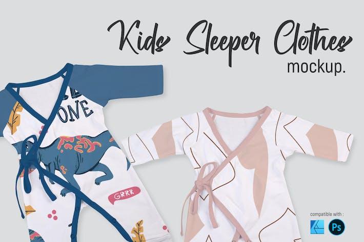 Thumbnail for Kids Sleeper Clothes | Mockup