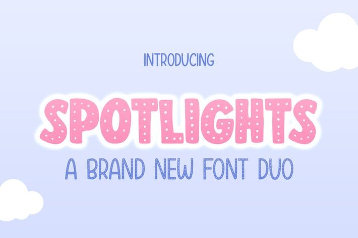 Thumbnail for Spotlights Font Duo