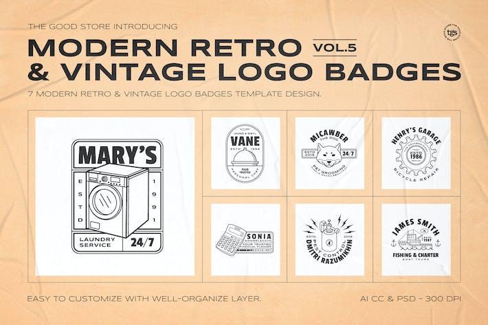Thumbnail for Retro Logo Badges Set Vol.5