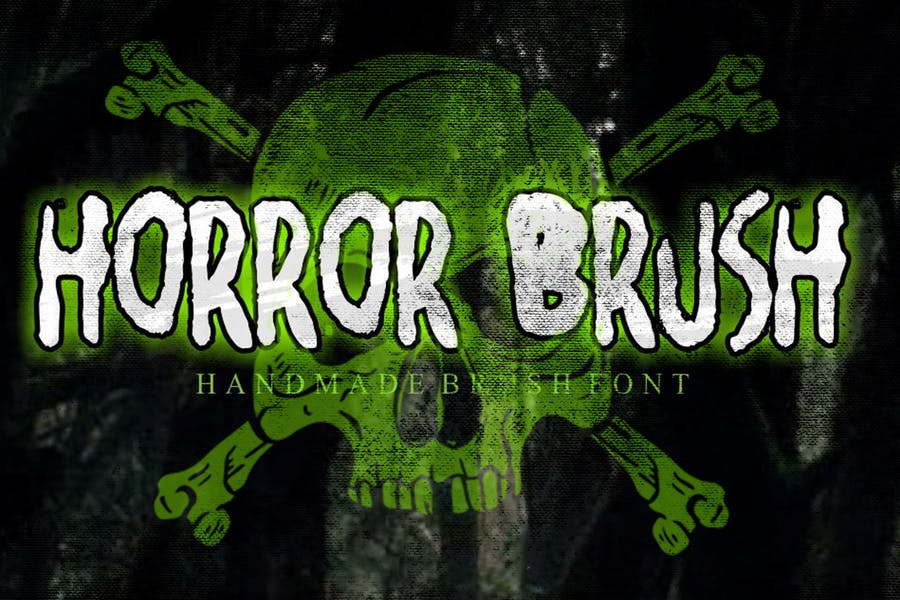 AN Horror Brush - Rough and Creepy typeface