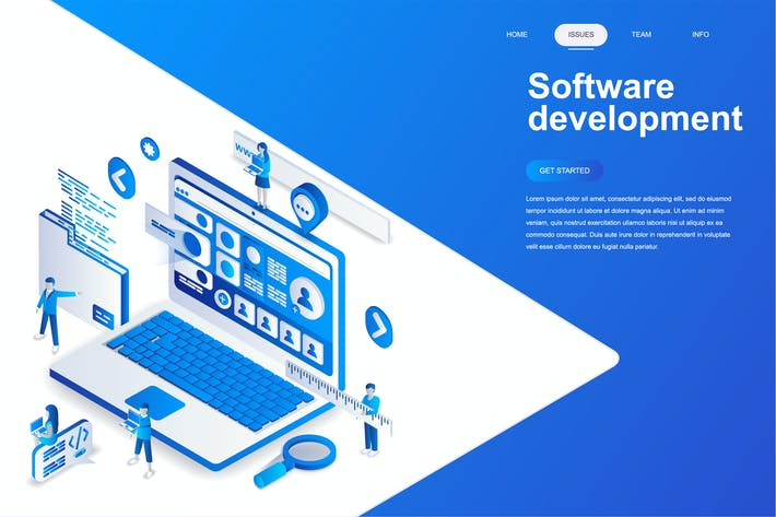 Thumbnail for Software Development Isometric Concept