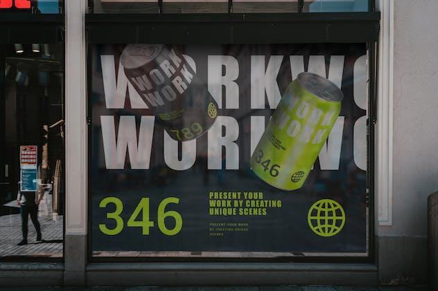 Window Signs Board Mockup