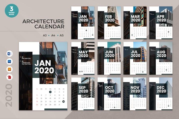 Thumbnail for Architecture 2020 Calendar - AI, DOC, PSD