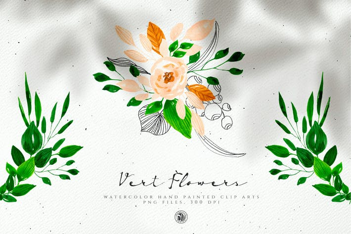 Thumbnail for Vert Watercolor Flowers