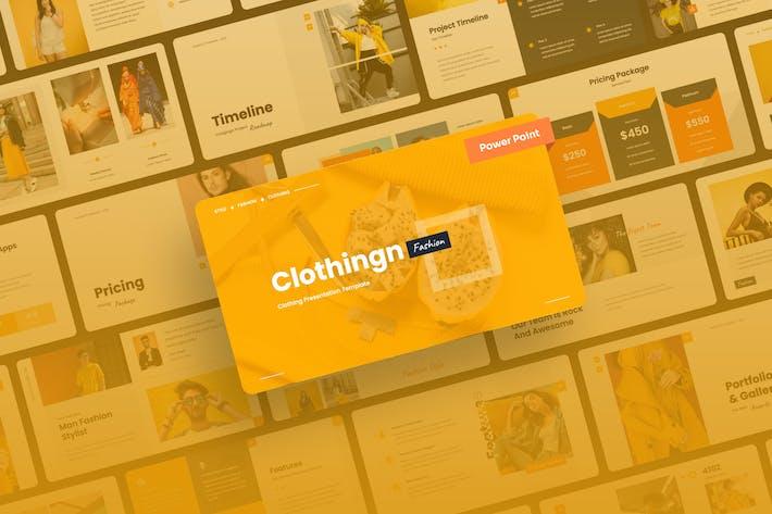 Clothingn - Мода и одежда Power Point