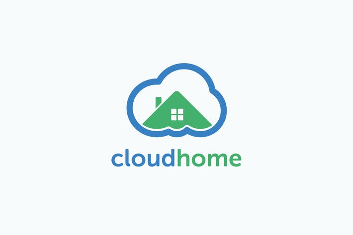 Thumbnail for Smart Cloud Home Logo Template