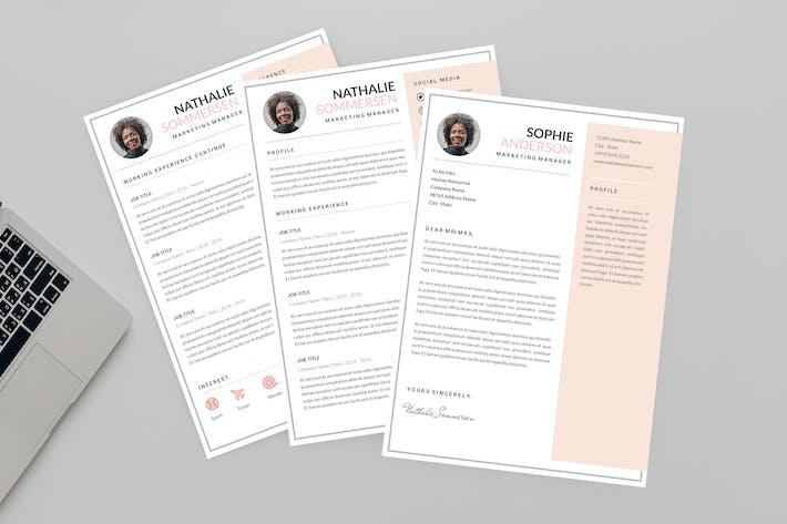 Thumbnail for Marketing Manager Resume Designer