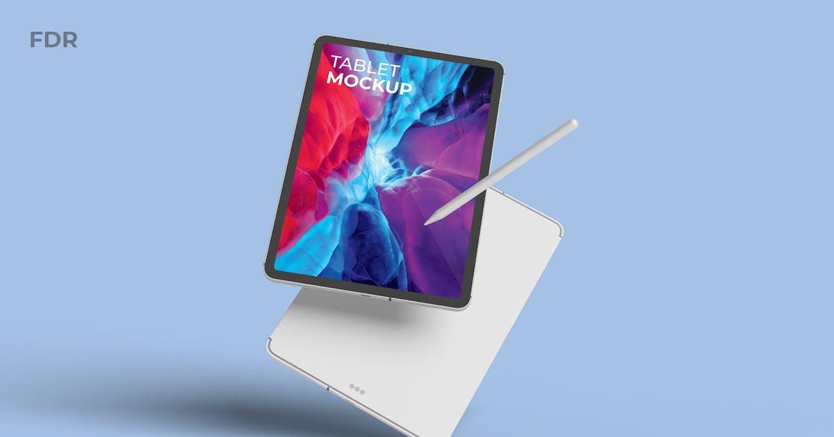 Download Floating Tablet Mockup by fdr_studio