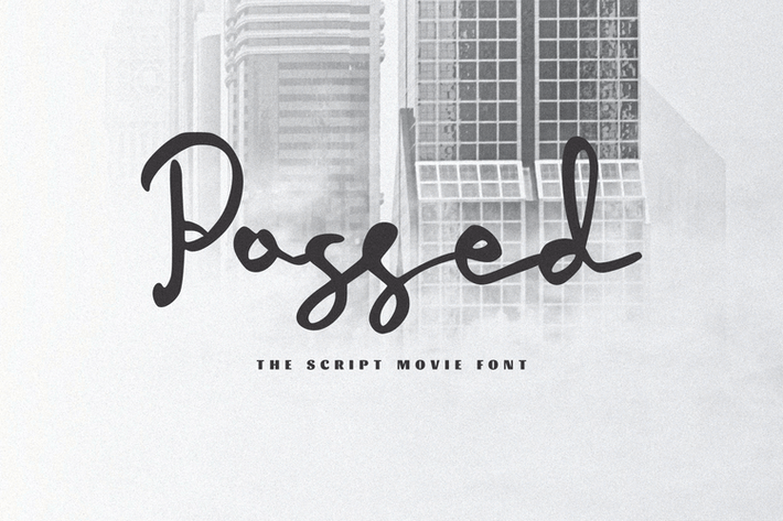 Thumbnail for Possed - The Movie Script Font