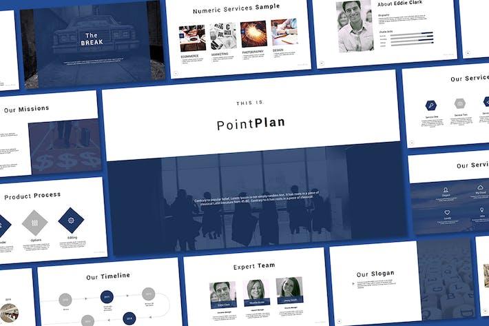 Thumbnail for Слайд Google Слайд точки плана